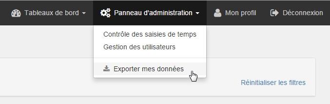 exporter mes données